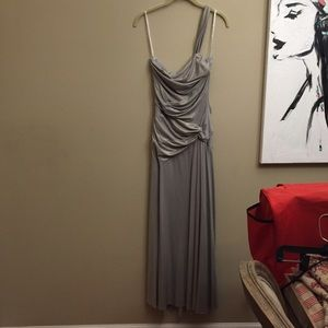 Jessica McClintock formal dress maxi silver 2